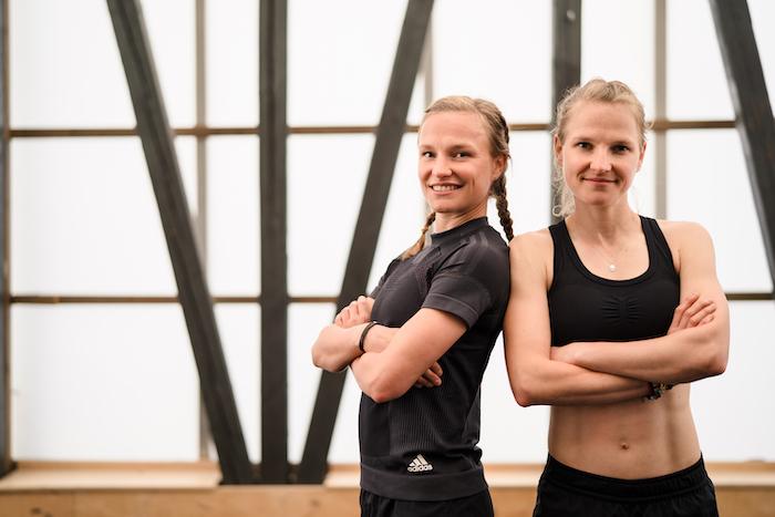 Laufhelden Anna und Lisa Hahner