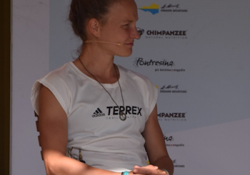 Anna Hahner bei St. Moritz Running Festival