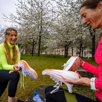 Laufschuhtest mit Tabitha und Sabine
