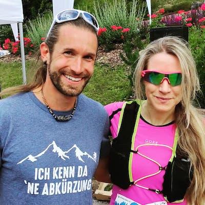im ziel beim skymarathon 2021