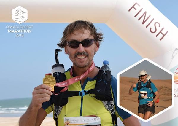 pater tobias als finisher des oman desert marathons