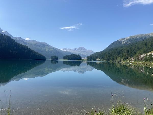 bergsee auf strecke engadiner sommerlauf