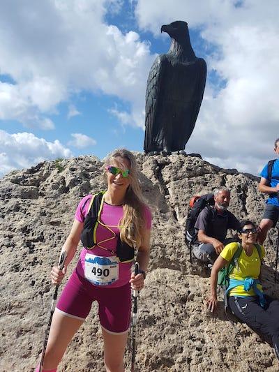 Tabitha beim Rosengarten Schlern Skymarathon 2021